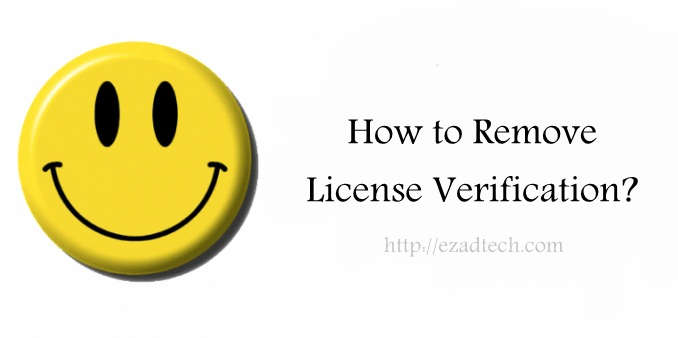 remove license verification